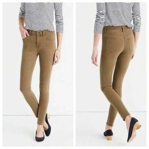 "Madewell 9"" high riser garment dyed skinny jeans"